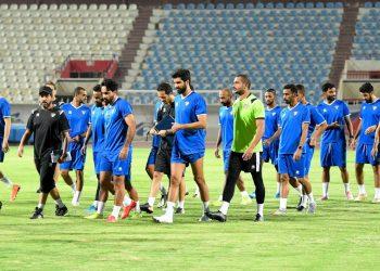 تدريبات منتخب الكويت استعدادا لمواجهة الأردن