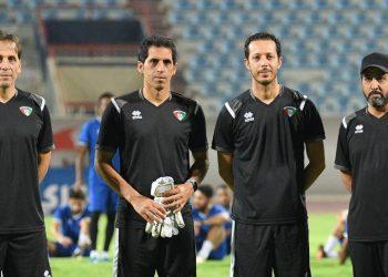 ثامر عناد مدرب المنتخب وجهازه المعاون