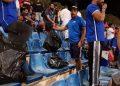 جماهير الكويت تنظف المدرجات عقب مباراة الأردن