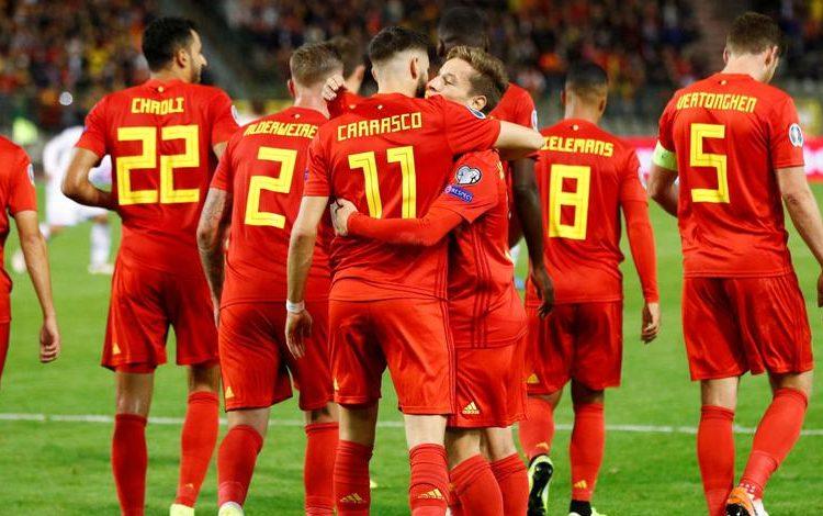 بلجيكا يتأهل لنهائيات كأس الأمم الأوروبية بـ9 أهداف دون رد التيار الاخضر