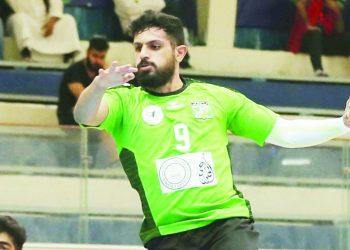 لاعب فريق العربي الكويتي لكرة اليد