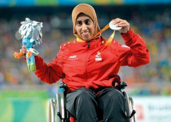 البطلة الأولمبية الإماراتية نورة الكتبي