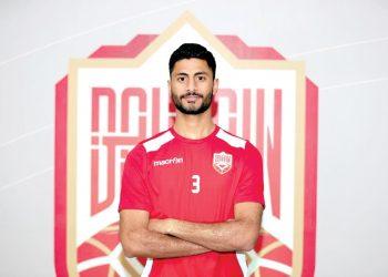 المنتخب البحريني المدافع أحمد بوغمار