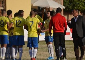 جانب من مباراة طنطا وأسوان في الدوري المصري
