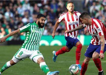 جانب من مباراة مباراة أتلتيكو مدريد و ريال بيتيس