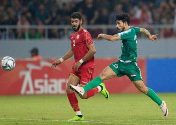 جانب من مباراة سابقة بين المنتخب العراقي والبحريني الاولمبي