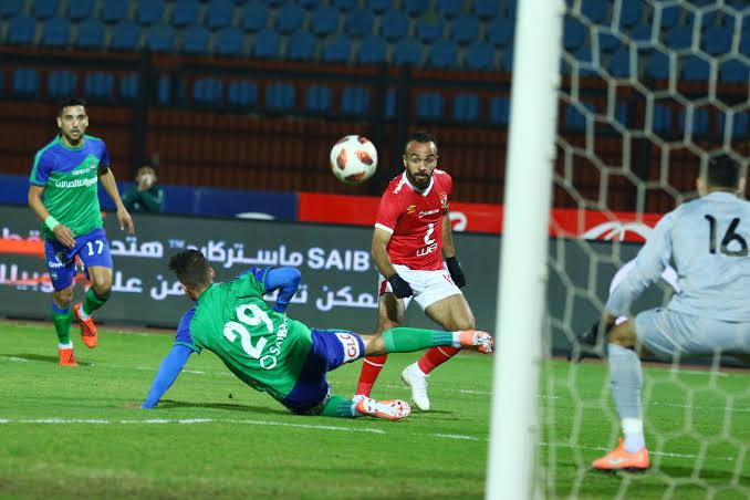 أهداف مباراة الأهلي ومصر المقاصة بالدوري المصري التيار الاخضر