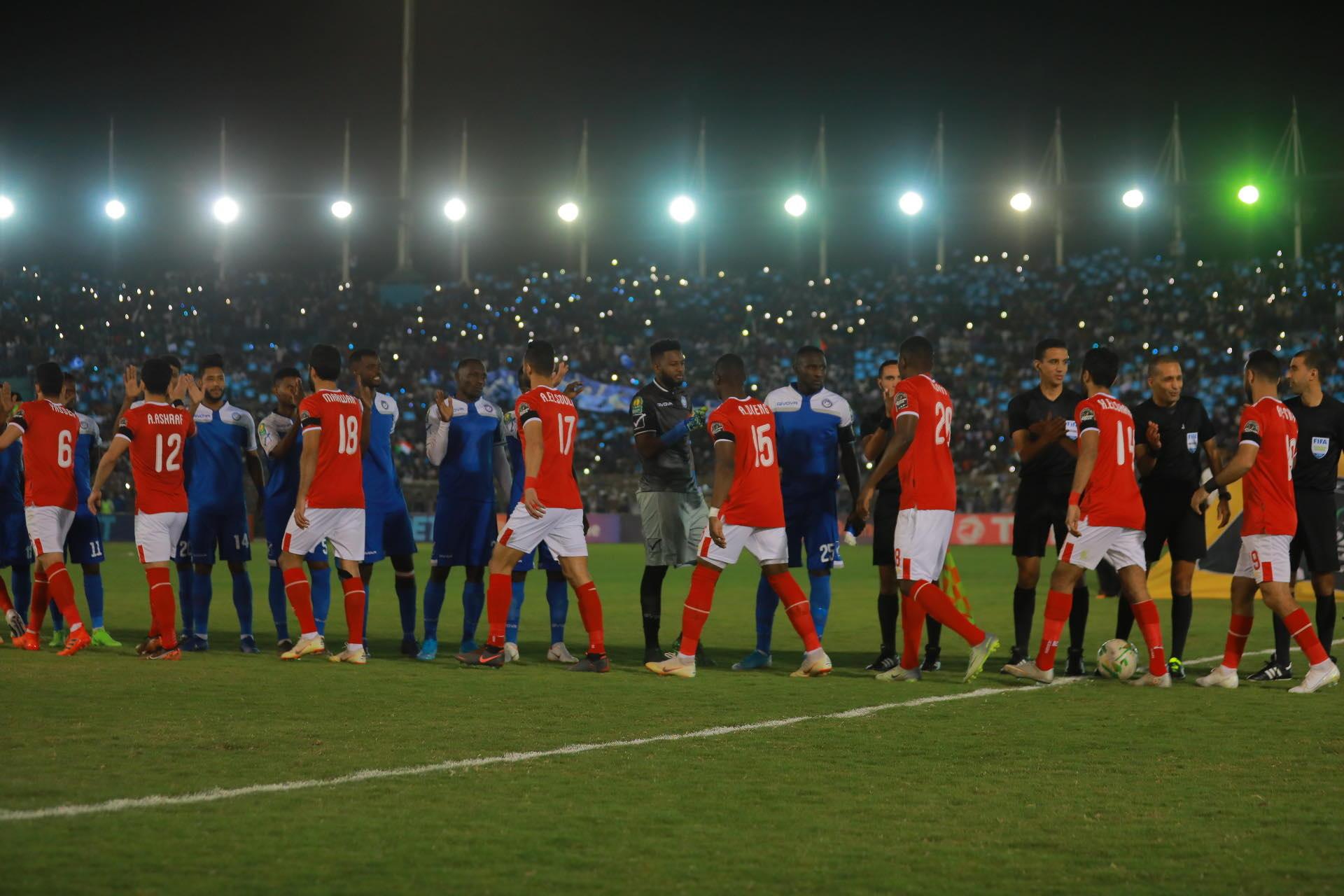 مباراة الهلال السوداني والاهلي المصري