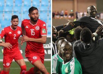 احتفال لاعبي تونس والسنغال بالتأهل