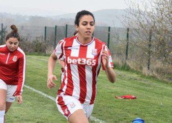 سارة عصام لاعبة ستوك سيتي