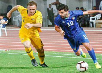 نادي اليرموك - احدي لقاءات المنتخب الوطني