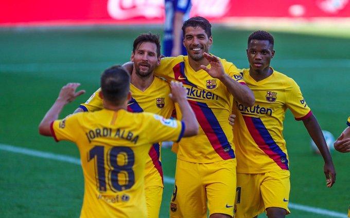 ملخص واهداف مباراة برشلونة ضد ديبورتيفو ألافيس