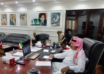 الشيخ أحمد اليوسف الصباح رئيس الاتحاد الكويتي لكرة القدم