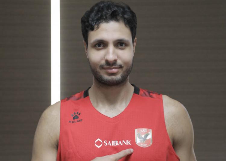 أحمد حمدي لاعب الأهلي المصري لكرة السلة