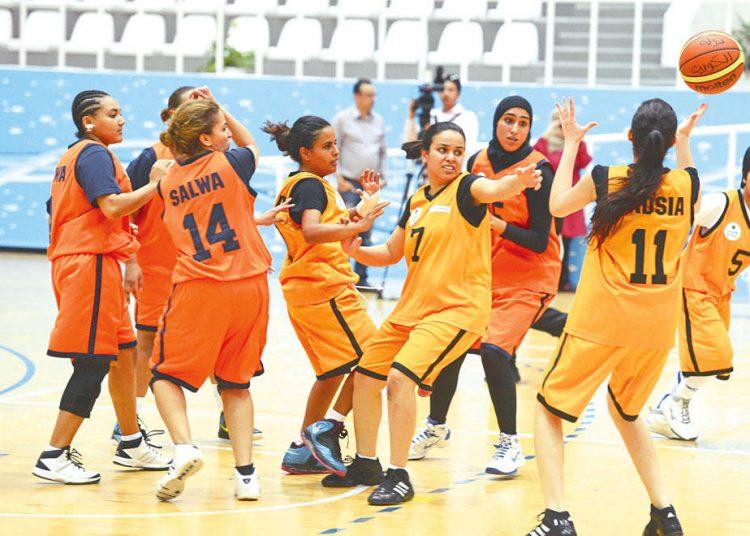 فريق السلة النسائي بالنادي العربي