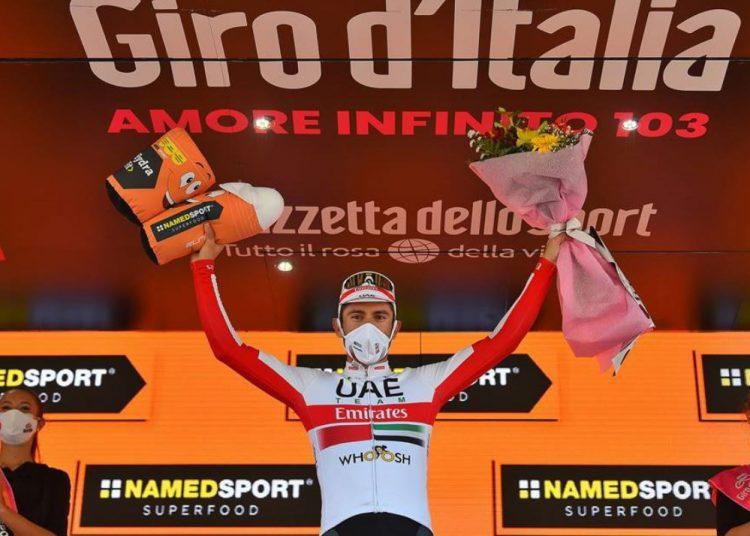 """""""أوليسي"""" دراج فريق الإمارات يتصدر المرحلة 13 من جولة إيطاليا"""